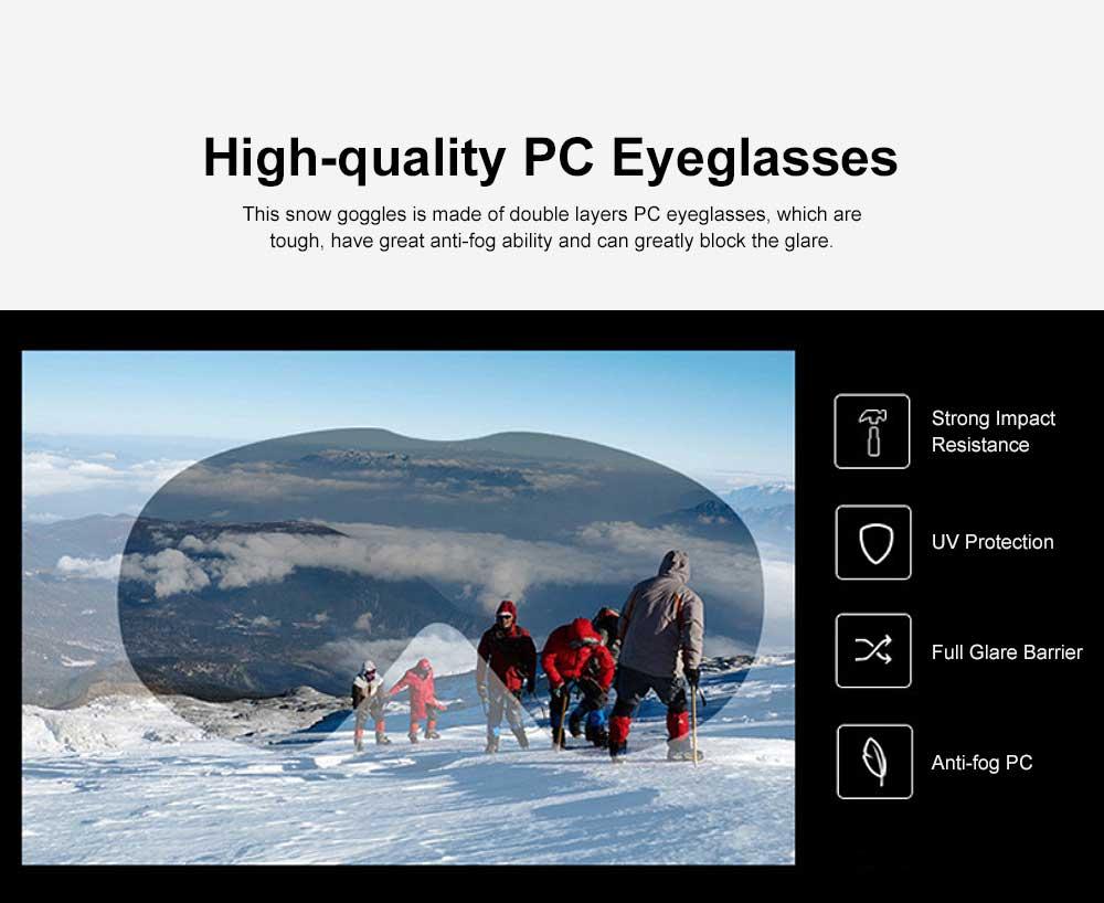 Unisex Anti-fog Ski Snow Sports Goggles, Adjustable Outdoors Snowfield Eye Protector Glasses, Double Layers Snow Sports Goggles 2