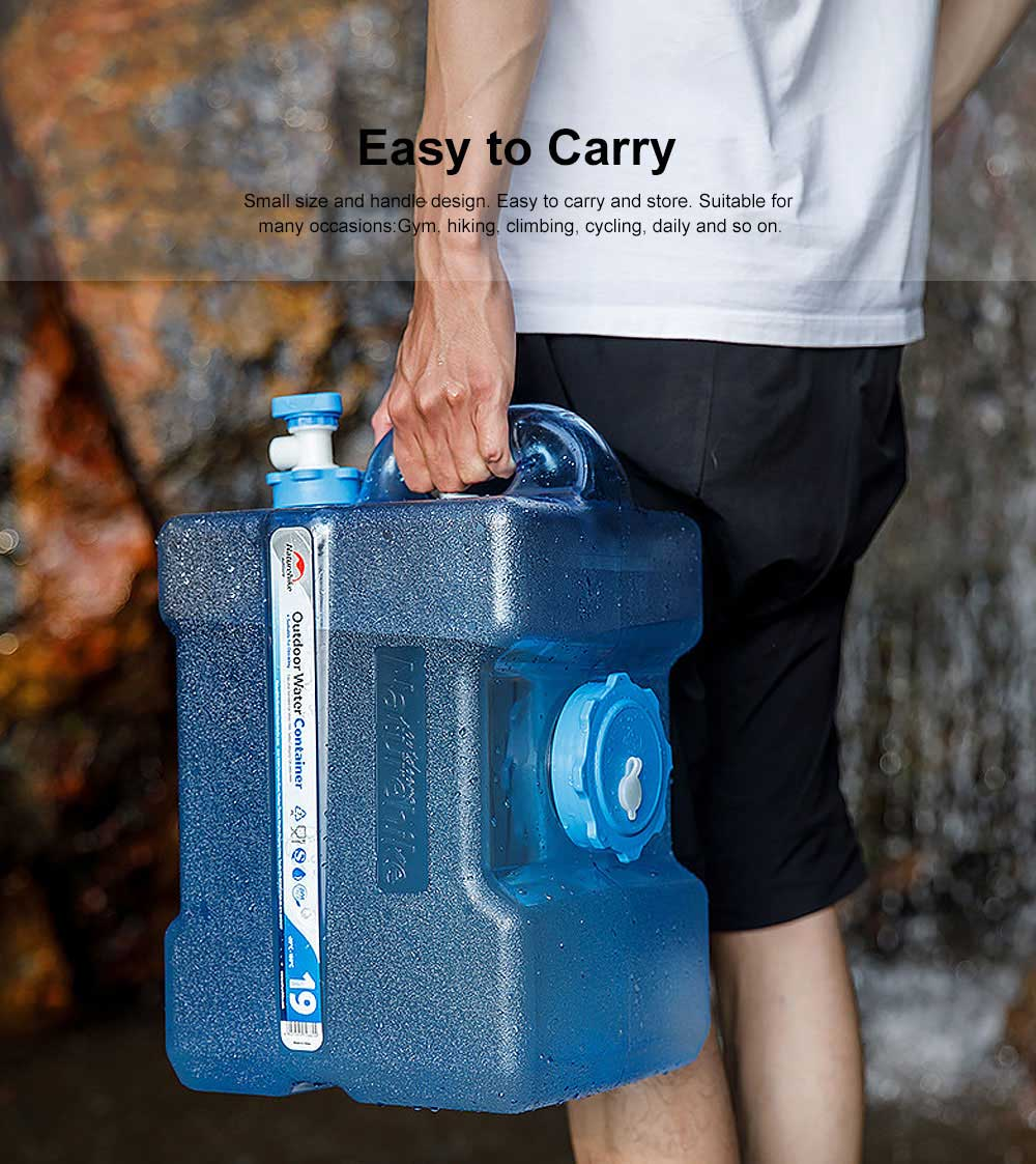 Outdoor Drinking Pure Bucket, PC Boiling Water Storage Box, Sport Water Jug with Leakproof, Large Capacity Drinking Tank for Picnic, Camping 3