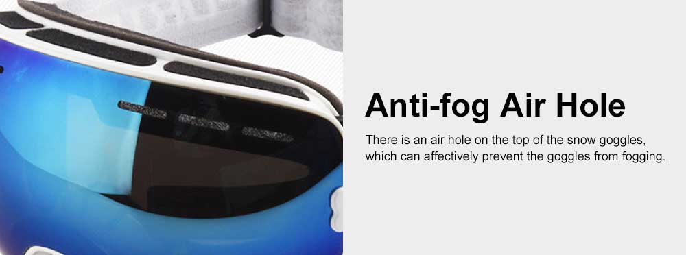 Unisex Anti-fog Ski Snow Sports Goggles, Adjustable Outdoors Snowfield Eye Protector Glasses, Double Layers Snow Sports Goggles 4