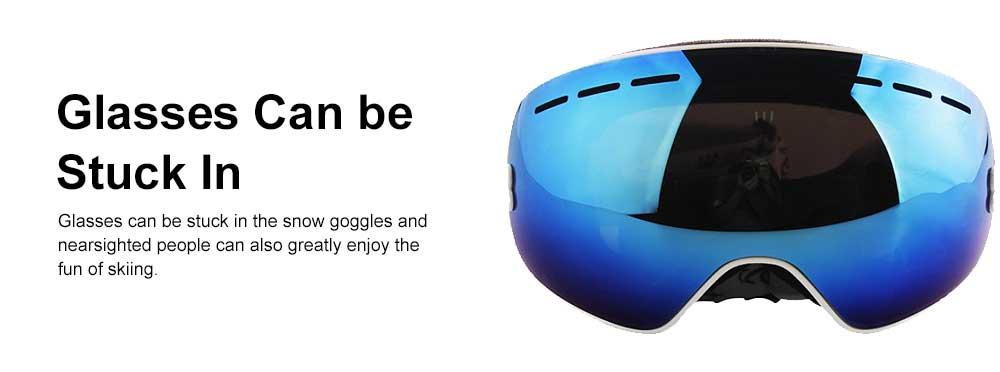 Unisex Anti-fog Ski Snow Sports Goggles, Adjustable Outdoors Snowfield Eye Protector Glasses, Double Layers Snow Sports Goggles 5
