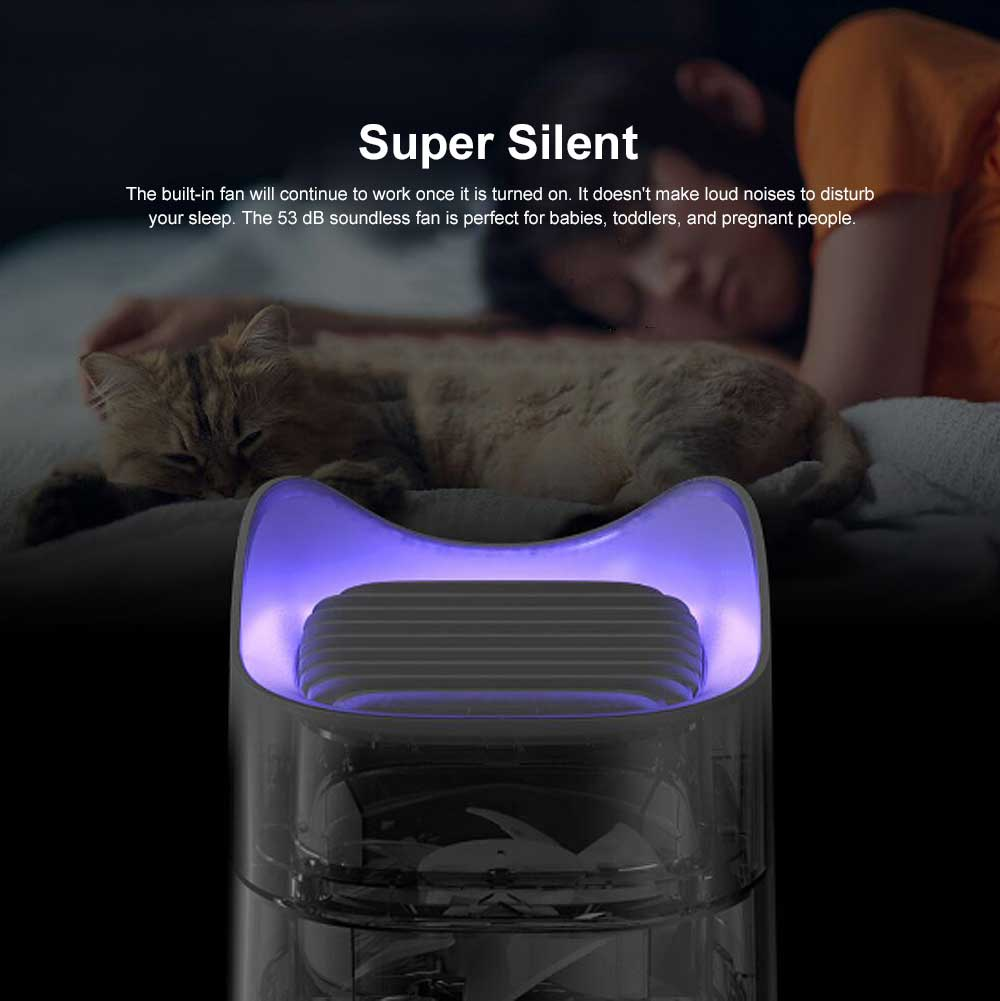 USB Mosquitoes Killer Lamp, Cute Cat Shape Silent Pest Bug Insect Repeller Light for Indoor Outdoor Bedroom 2