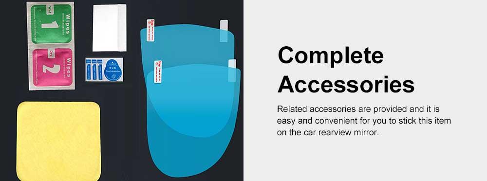 HD Waterproof Anti-fog Mirror Sticker for Car Rear View, Anti-glare Rain-proof Automobile Mirror Pad for Nissan Motor 4