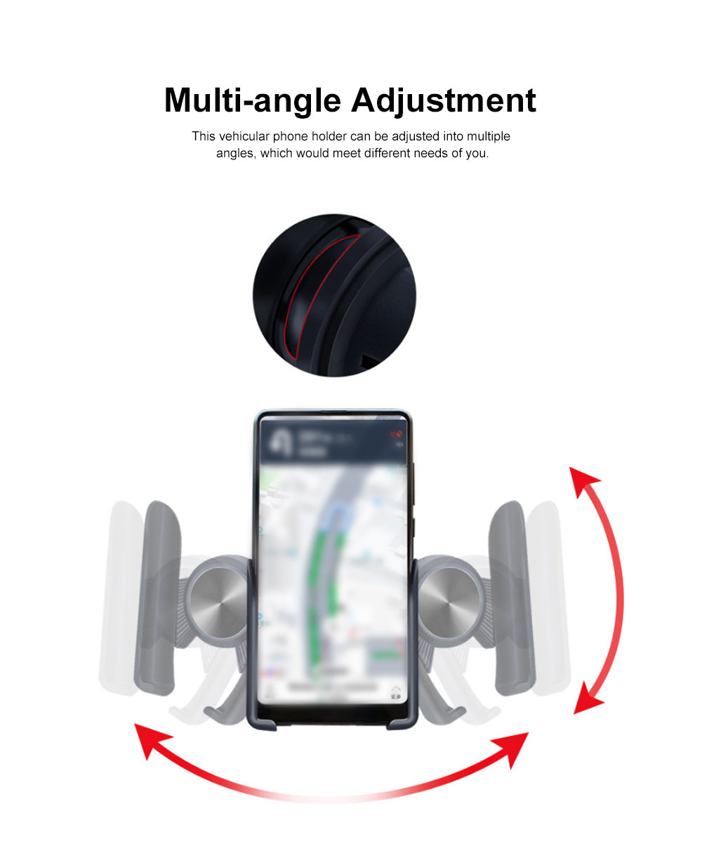Gravity Car Air Vent Mount Mobile Phone Holder, Intelligent Linkage One-handed Access Phone Supporter Cradle 3