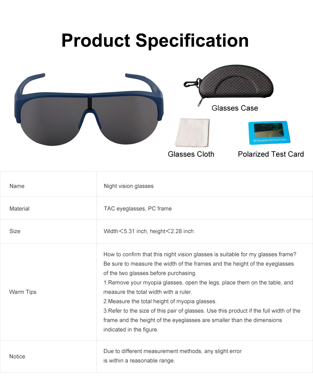 Car Driving UV Protection Day Night Vision Glasses, Unisex Reduce Glare Polarized Sun Glasses Sports Goggles 6