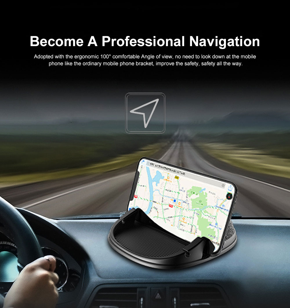 New Car Phone Rack, Vehicle-mounted Holder Bracket for iPad, iPhone, Samsung, Silicone Mobile Phone Holder 1