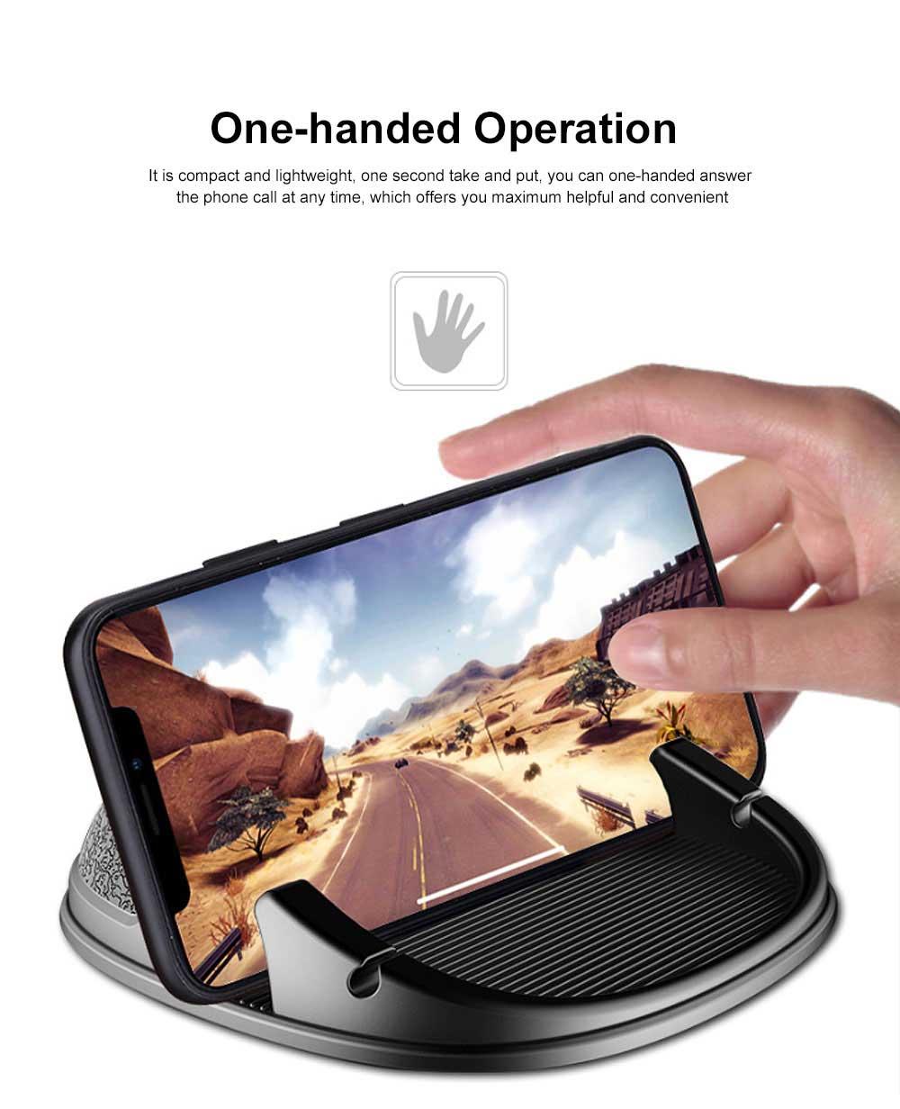 New Car Phone Rack, Vehicle-mounted Holder Bracket for iPad, iPhone, Samsung, Silicone Mobile Phone Holder 3