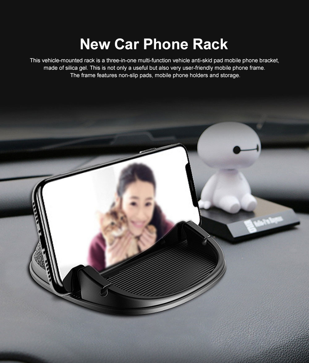 New Car Phone Rack, Vehicle-mounted Holder Bracket for iPad, iPhone, Samsung, Silicone Mobile Phone Holder 0