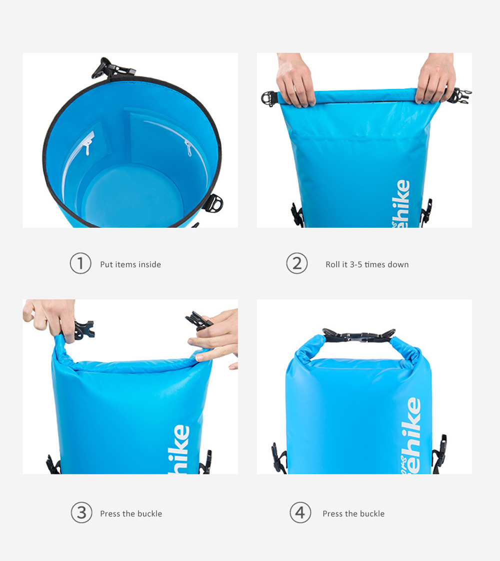 Wet Dry Separation Waterproof Bag for Outdoor Activities, Floating, Swimming, Diving, Beach Used Showerproof Large-capacity Storage Bag 6