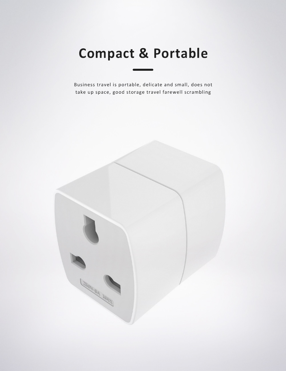 Universal Change-over Plug with Change-over Jack, Small Portable Universal Travel Charging Plug 5