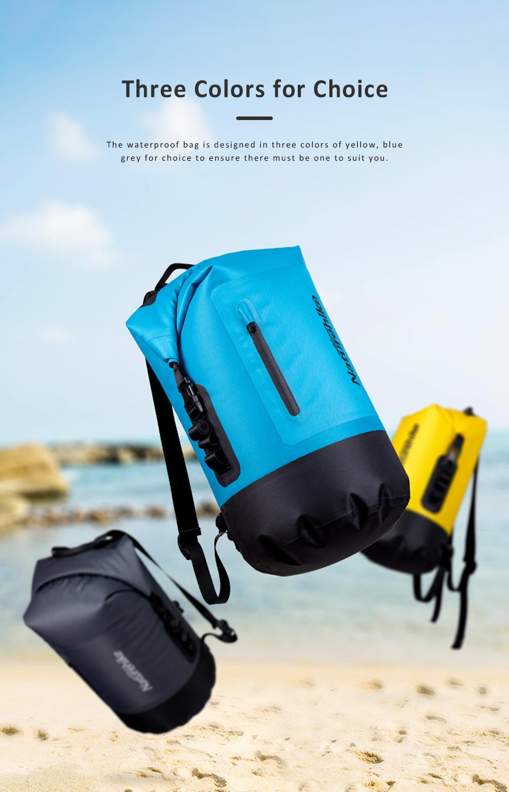 Waterproof Backpack for Drifting, Swimming, Large-capacity Dry Wet Separation Storage Bag, Outdoor Activity Used Backpack 6