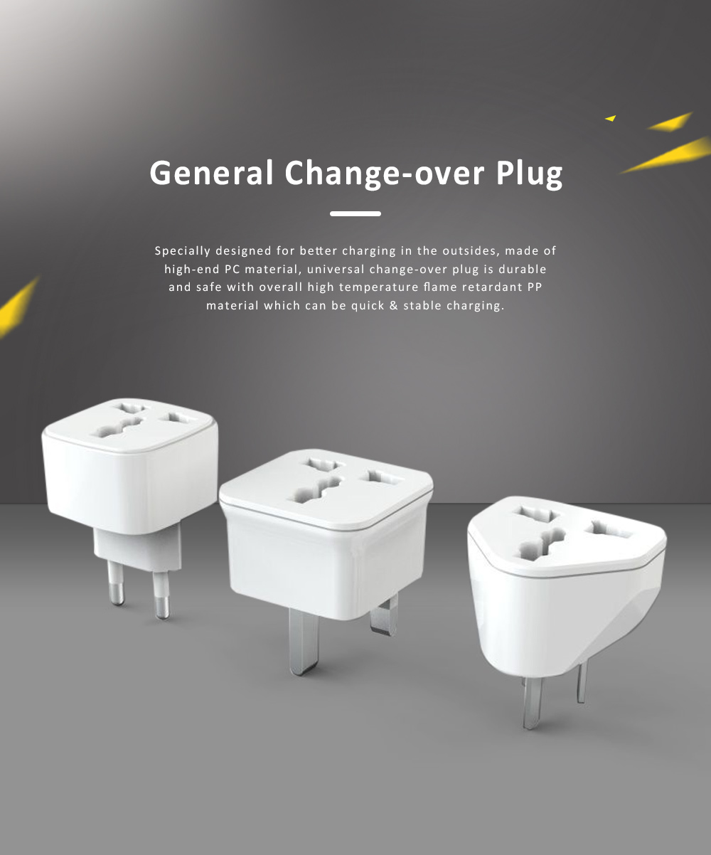 General Change-over Plug with Different Change-over Jacks, Small Portable Universal Travel Charging Plug 0