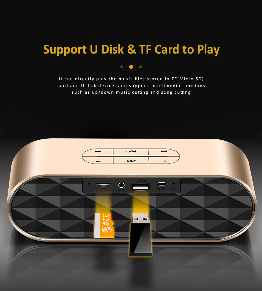 Wireless Bluetooth Speaker with HiFi Sound Quality, Bass Card Speaker Support Ultra-long Battery Life & Compatible with A Variety of Apps 5
