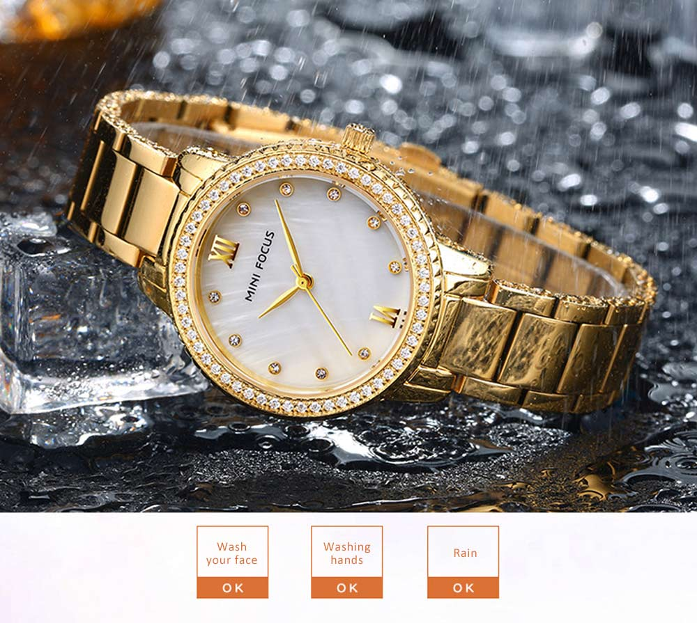 Trendy Luxury Diamond-studded Ladies Watch Fashion Business Steel Strap Women's Watch 2
