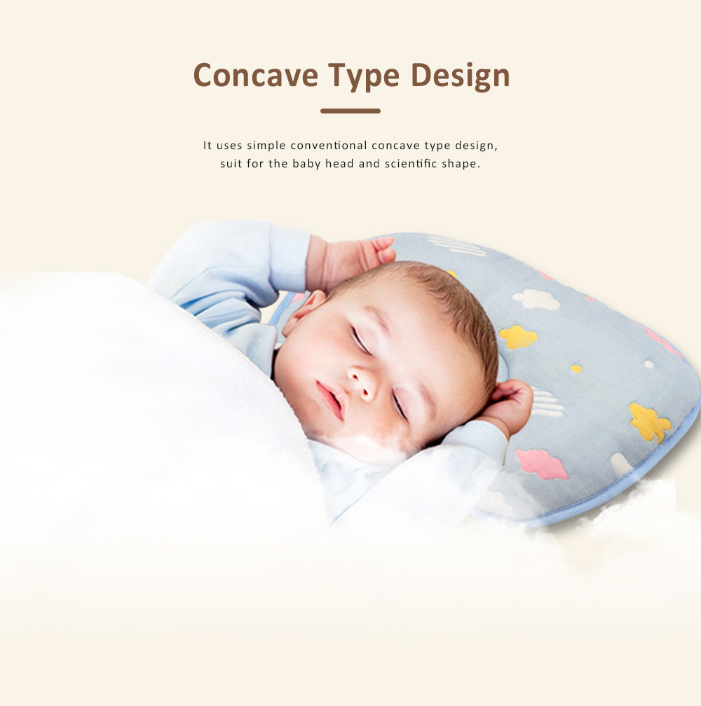 Correct Baby Head Pillow for 0-6 Months Baby, Carton Pattern Six Cotton Layers Finalize Newborn Pillow 5