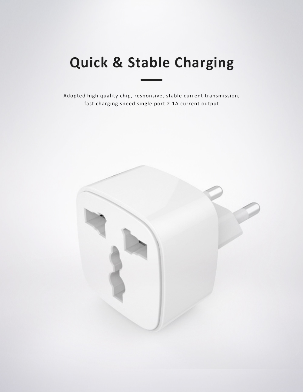 General Change-over Plug with Different Change-over Jacks, Small Portable Universal Travel Charging Plug 5