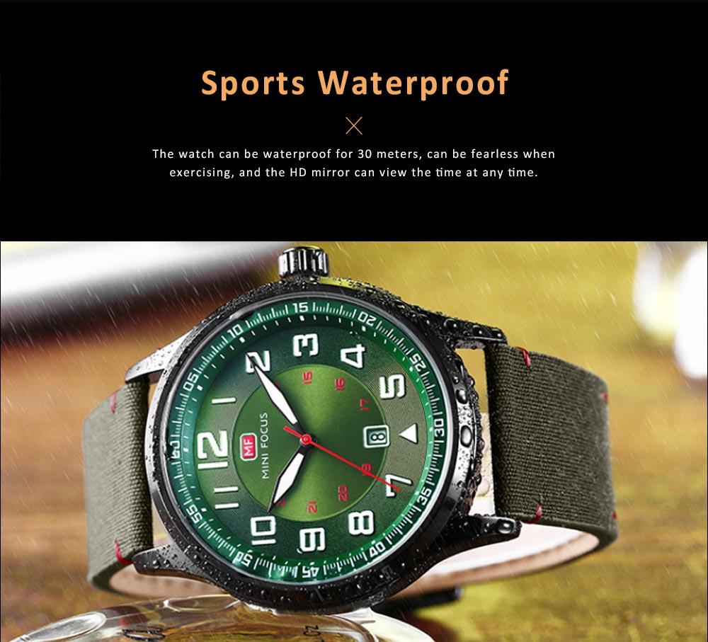 Fashion Japanese Movement Men's Watch, Calendar Luminous Waterproof Watch, Exquisite Nylon Strap Sport Wristwatch 3