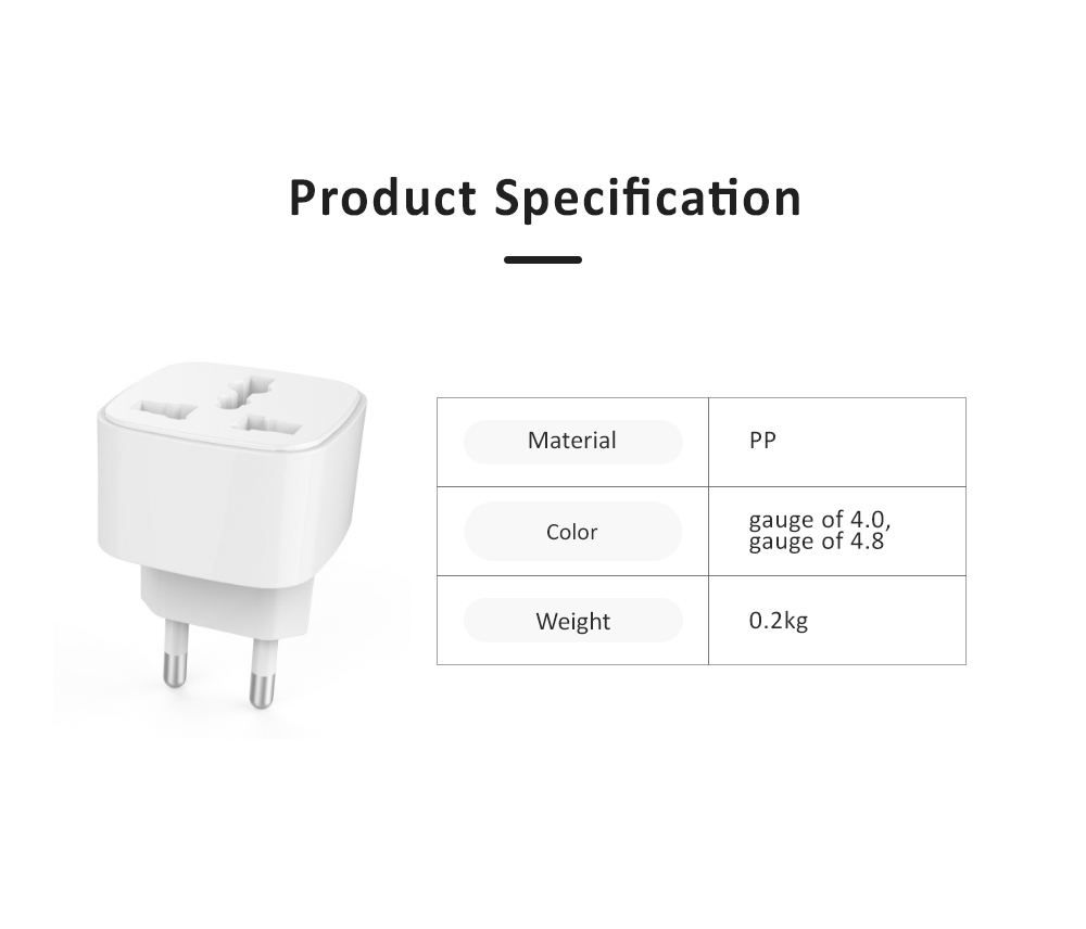 General Change-over Plug with Different Change-over Jacks, Small Portable Universal Travel Charging Plug 6