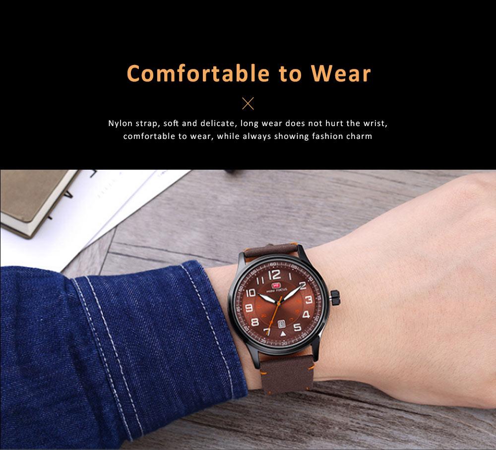 Fashion Japanese Movement Men's Watch, Calendar Luminous Waterproof Watch, Exquisite Nylon Strap Sport Wristwatch 4