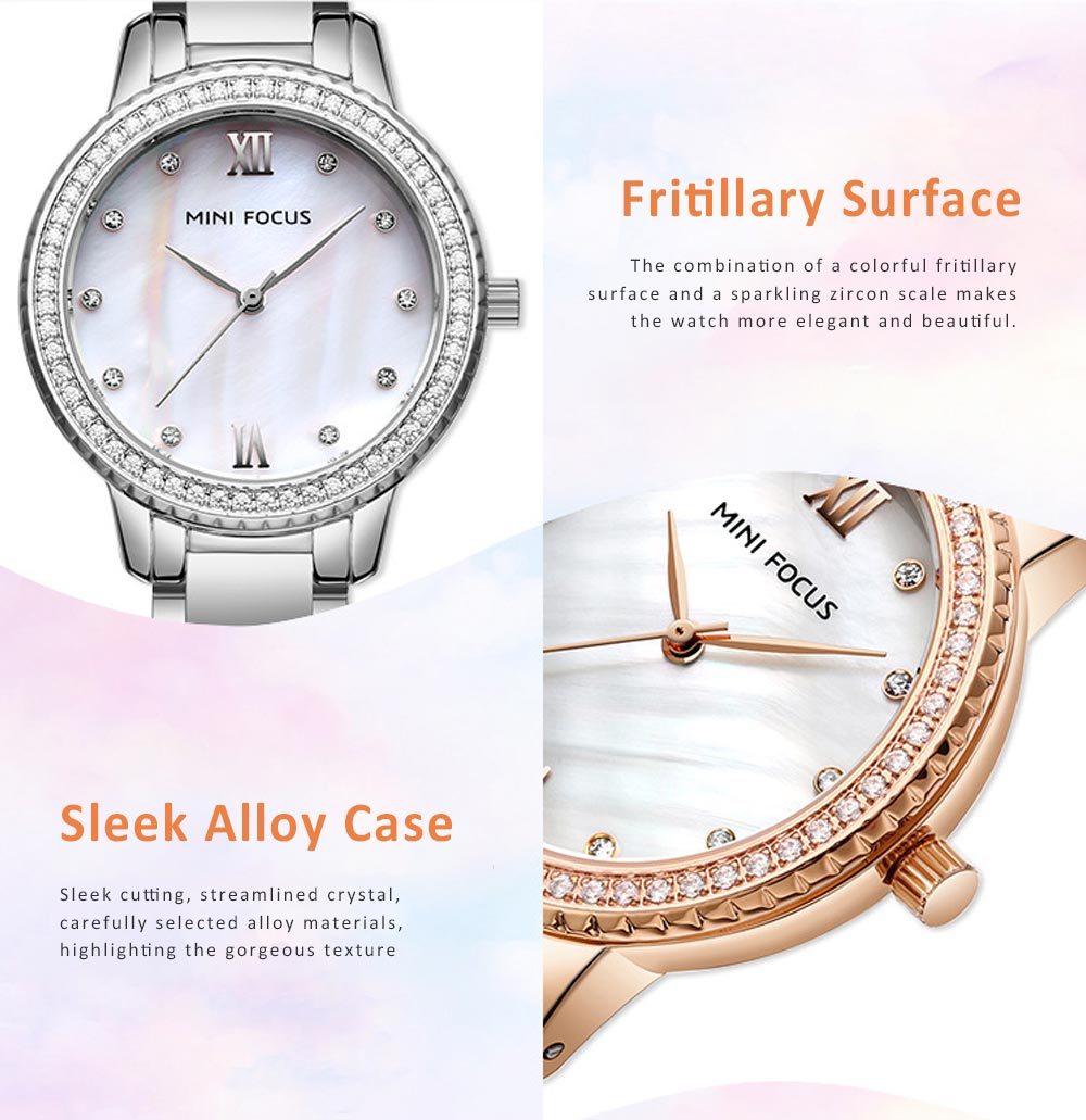 Trendy Luxury Diamond-studded Ladies Watch Fashion Business Steel Strap Women's Watch 3