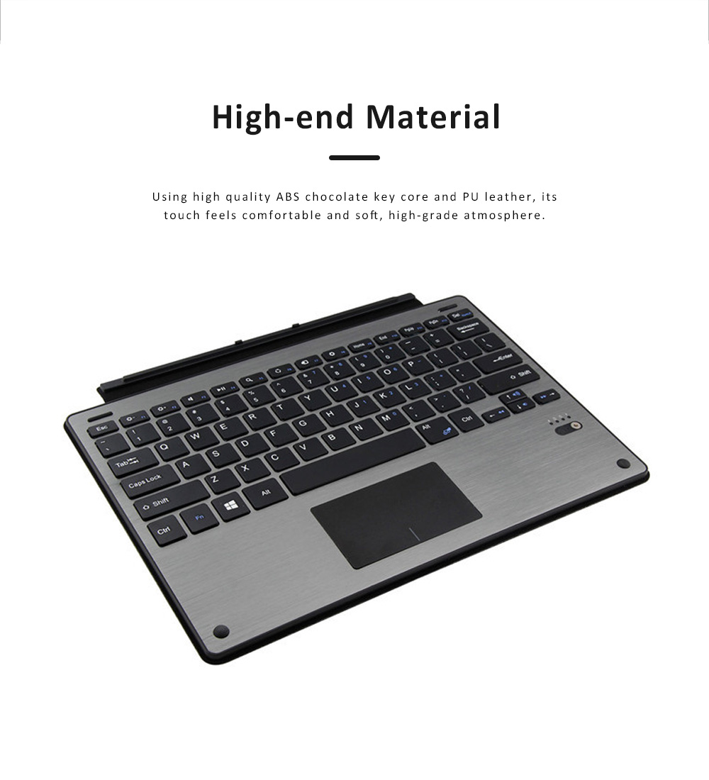 Touch Bluetooth Keyboard with Detachable Design, Scintillation Lamp Ultra Slim Keyboard for Microsoft Surface Pro 3, Pro4, 12.2 inch  1