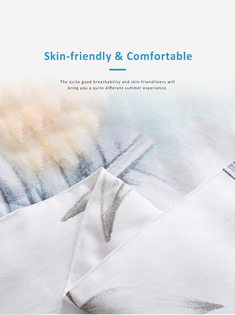 Washable Breathable Cotton Summer Quilt with Fadeless Printing, Skin-friendly Blankets for Air Conditioning Summer Quilt 6