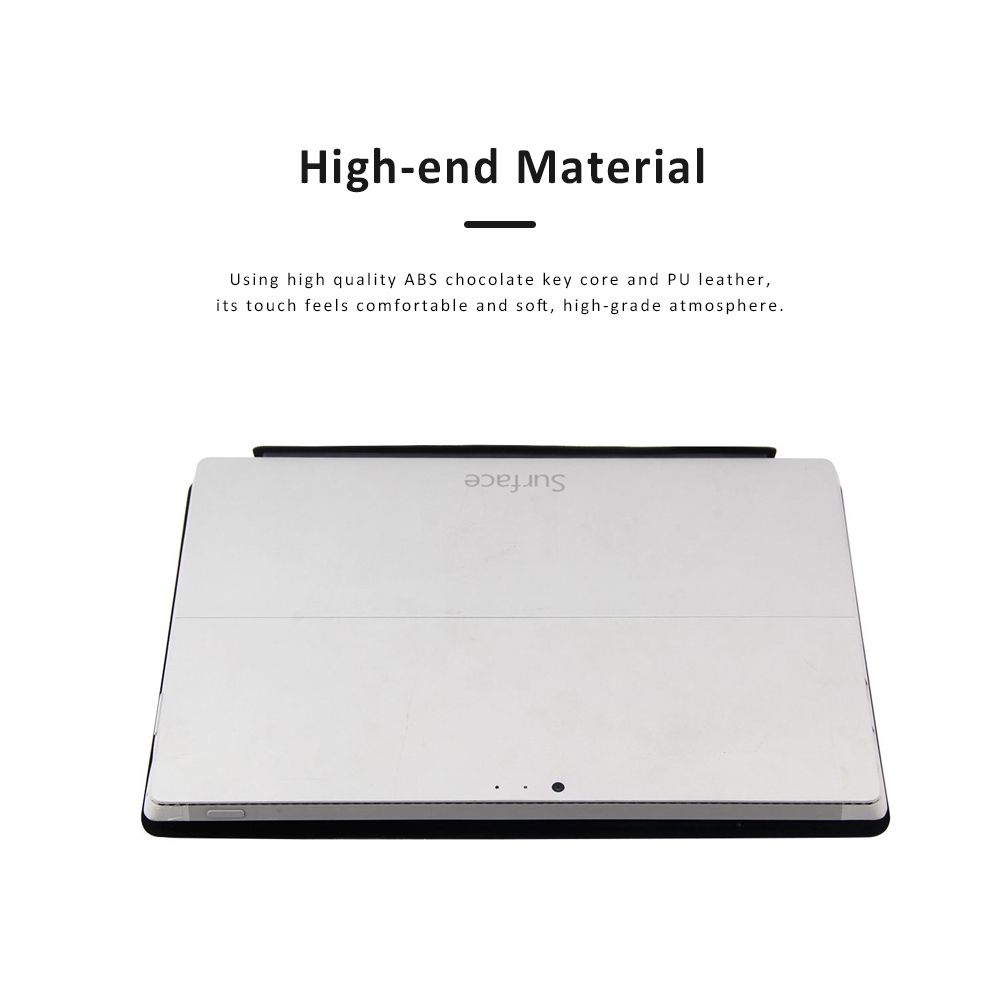 Ultra-thin Touch Control Wireless Bluetooth Keyboard for Microsoft Surface Pro3 Pro 4, Office Home Use Aluminum Alloy Wireless Keyboard 12.2 inch  1