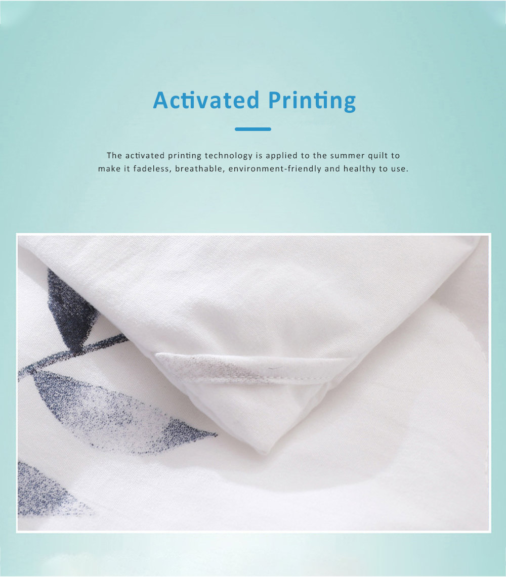 Washable Breathable Cotton Summer Quilt with Fadeless Printing, Skin-friendly Blankets for Air Conditioning Summer Quilt 4