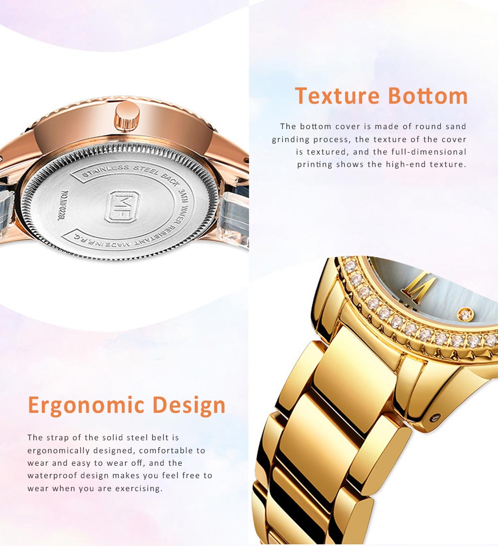 Trendy Luxury Diamond-studded Ladies Watch Fashion Business Steel Strap Women's Watch 4