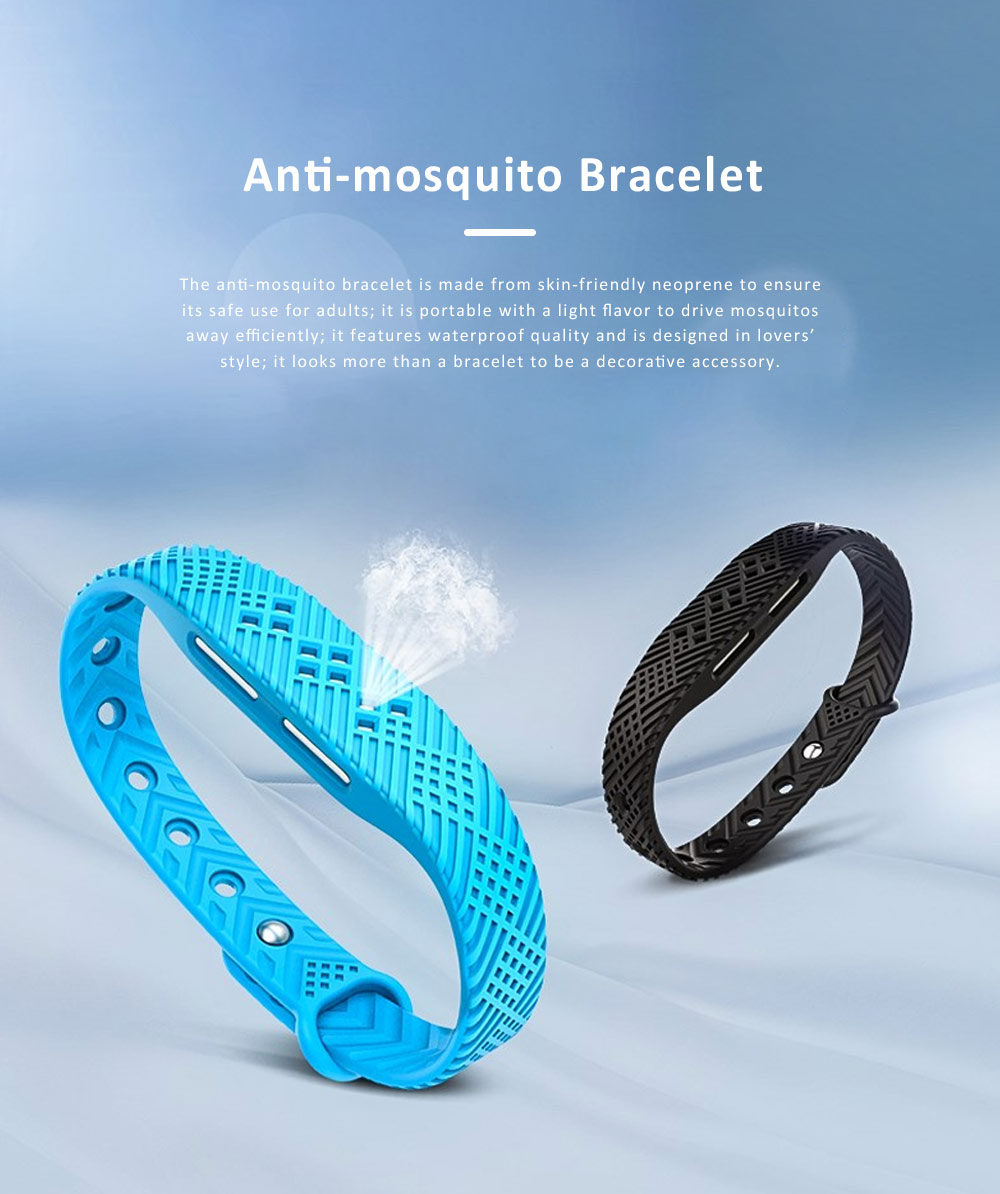 Natural Anti-mosquito Bracelet for Outdoor Used, Waterproof Skeeter Driven Buckle Wristband, Anti-mosquito Anklet Bracelet for Driving Mosquito Away 0