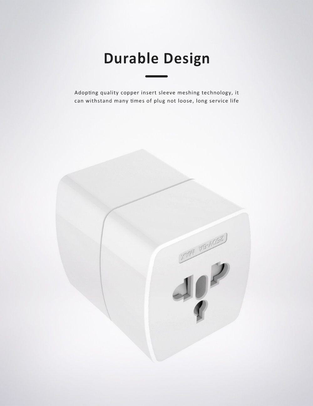 Universal Change-over Plug with Change-over Jack, Small Portable Universal Travel Charging Plug 3
