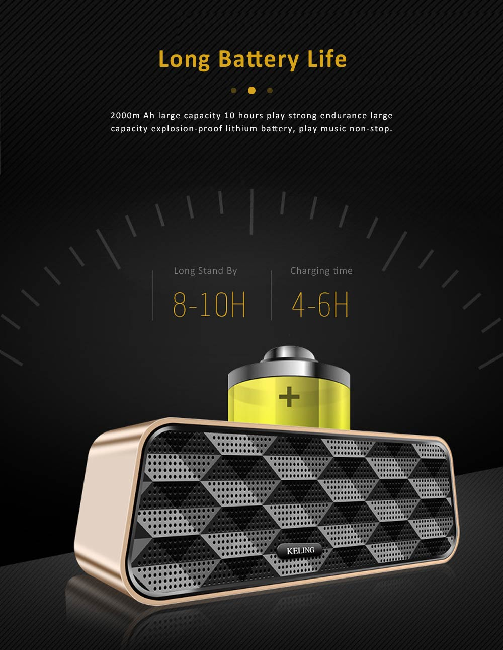 Wireless Bluetooth 5.0 Speaker with Dual Speakers, Bass Card Speaker Support Ultra-long Battery Life for Apps, Computer, Tablets, Phones 14
