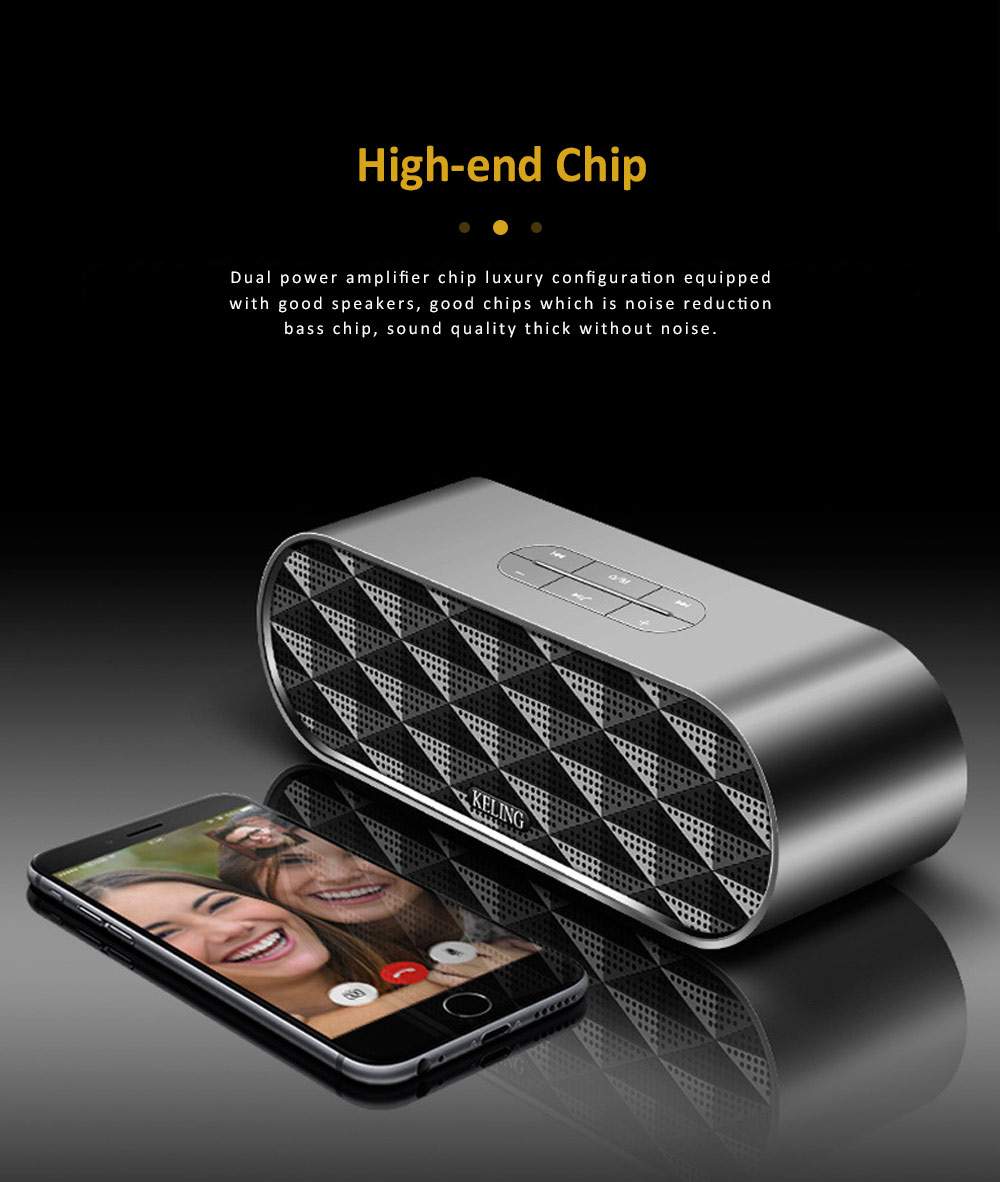 Wireless Bluetooth Speaker with HiFi Sound Quality, Bass Card Speaker Support Ultra-long Battery Life & Compatible with A Variety of Apps 3