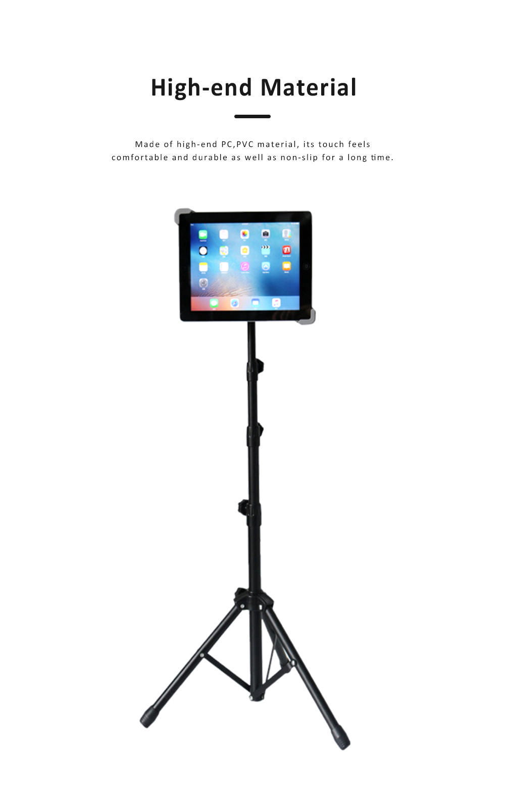 Aluminum Triangle Foot Tablet Stands, Retractable Mini Triangle Stands for iPad 7-12 inch 3