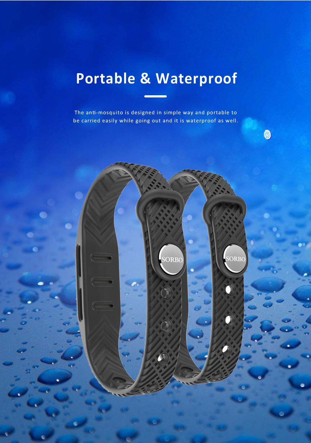 Natural Anti-mosquito Bracelet for Outdoor Used, Waterproof Skeeter Driven Buckle Wristband, Anti-mosquito Anklet Bracelet for Driving Mosquito Away 4