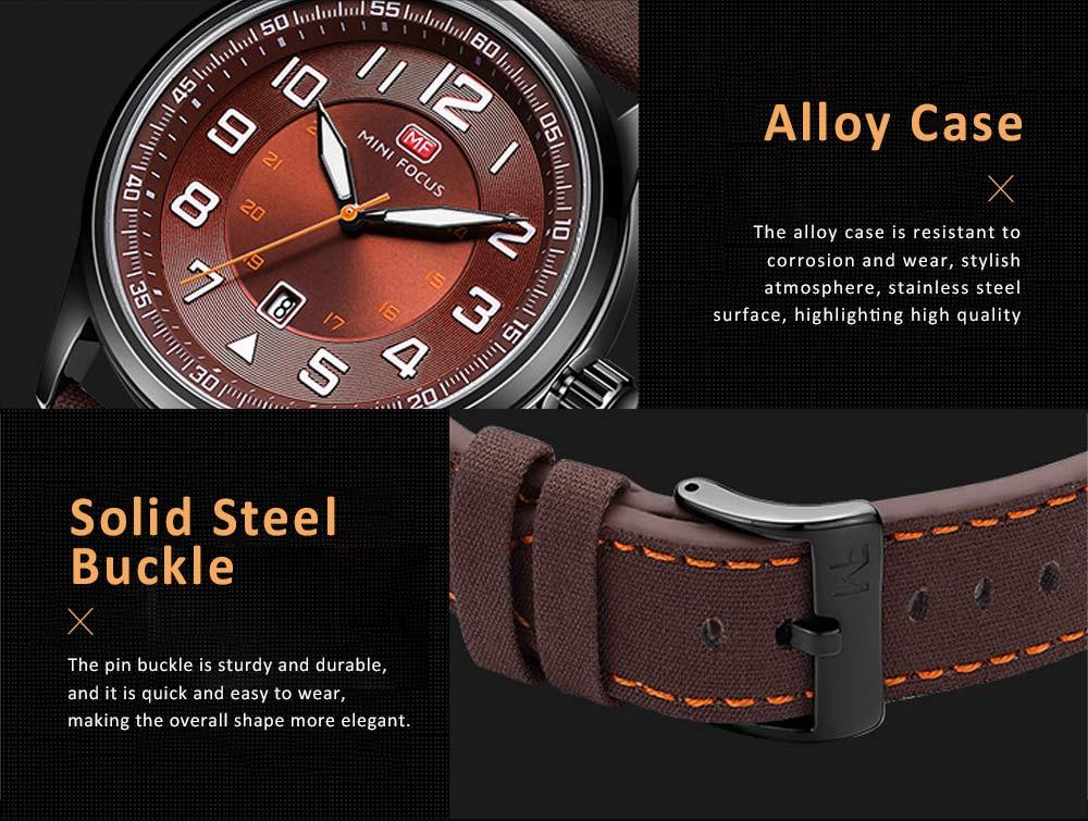 Fashion Japanese Movement Men's Watch, Calendar Luminous Waterproof Watch, Exquisite Nylon Strap Sport Wristwatch 2