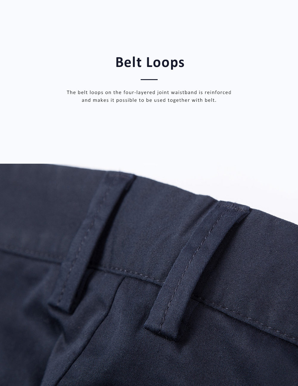 Mid-rise Straight-leg Pants for Men Spring, Pure Color Designed Straight Trousers, Slightly Elastic Fabric Casual Style Men's Wear 6