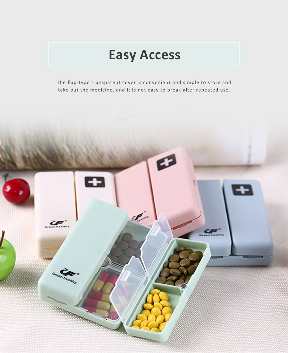 Mini Portable Medicine Box, Medicine Classification Storage Box, Moisture-proof Convenient Carry Classification Box 5