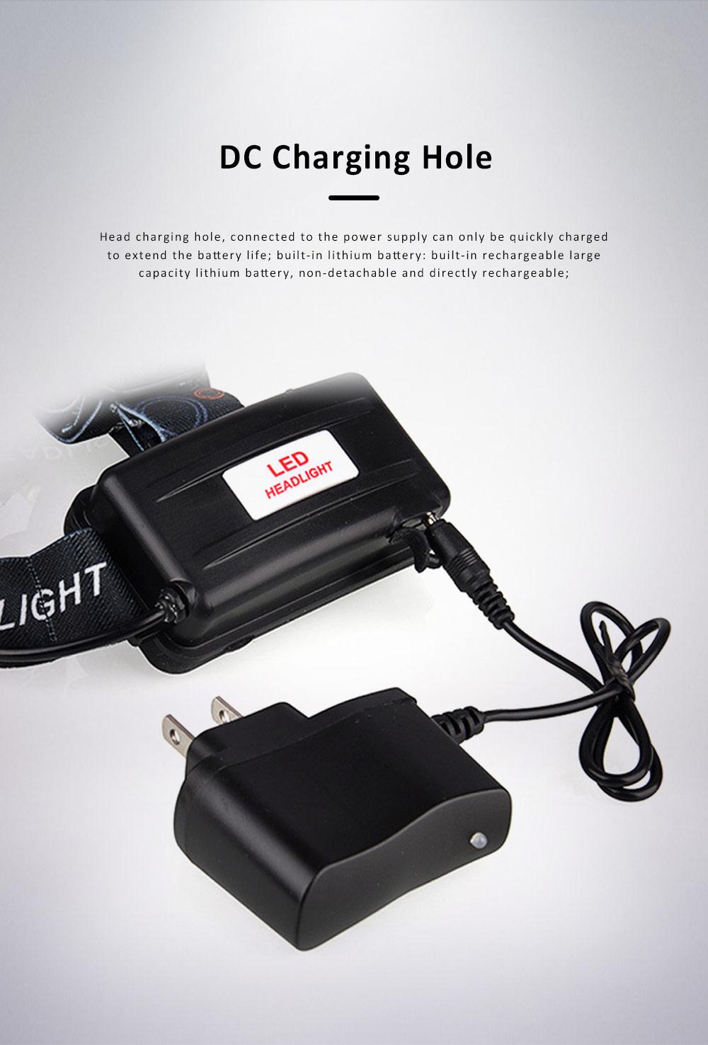 Retractable Adjustable Waterproof LED Strong Light Zoom Outdoor Fishing Bead Lamp with Elastic Light Belt 1