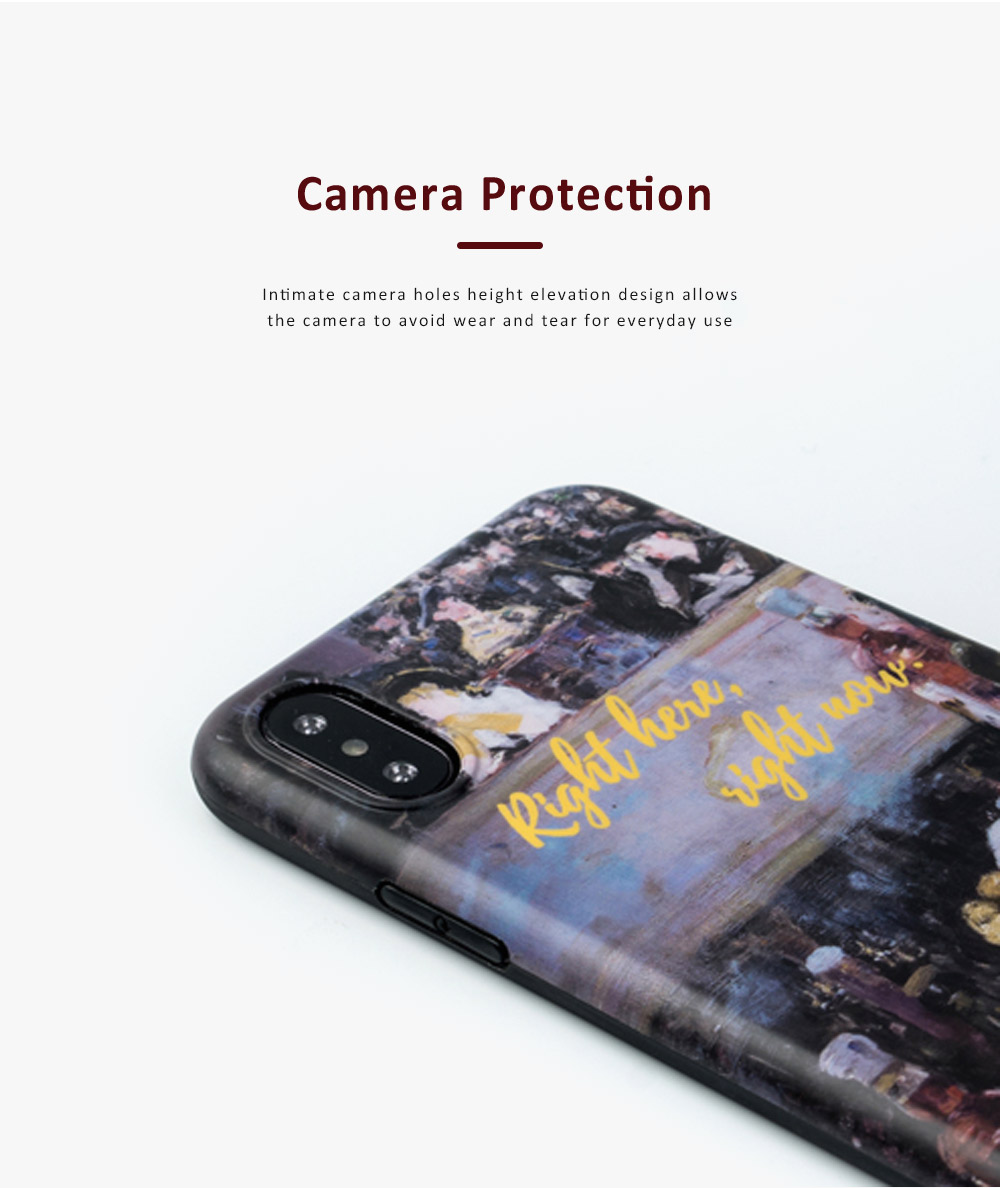 Oil Painting Bottle Apple Mobile Phone Case, Retro All-Inclusive Soft Shell for iPhone Max, iPhone XS, 8 plus, 6s, 7 plus, X, 6 2