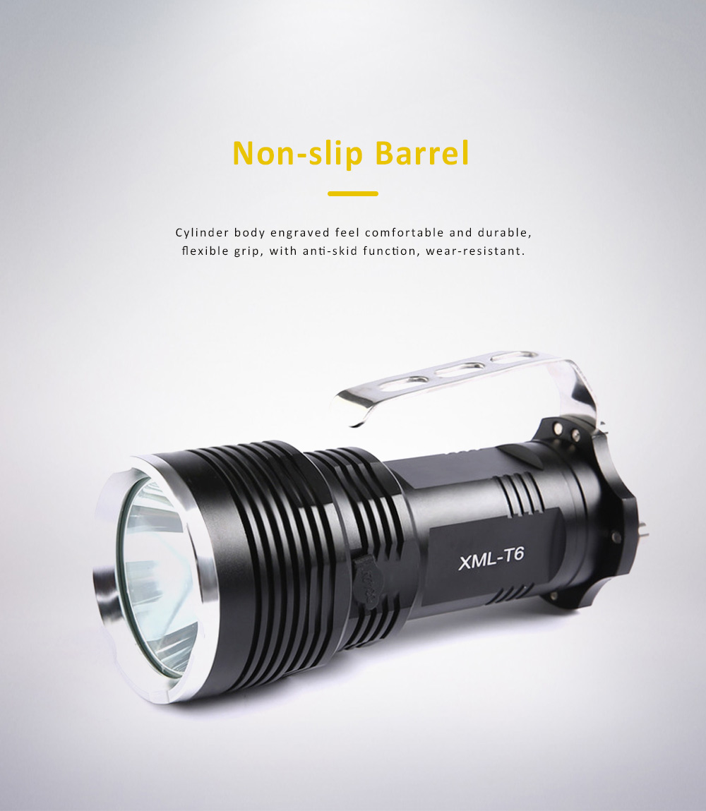 Non-slip & Waterproof Strong Light Searchlight with Probe Handle & Waterproof Rubber Ring 1