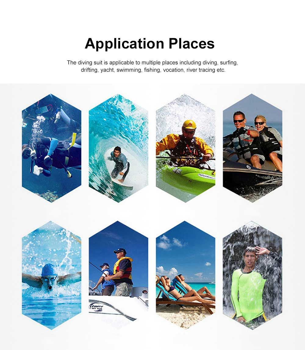 One-piece Unisex Diving Suit, Multifunctional One-piece Sunblock Diving Dress, Surfing Swimsuit Snorkeling Swimwear of Jellyfish Prevention Bathing Suit Blue 1