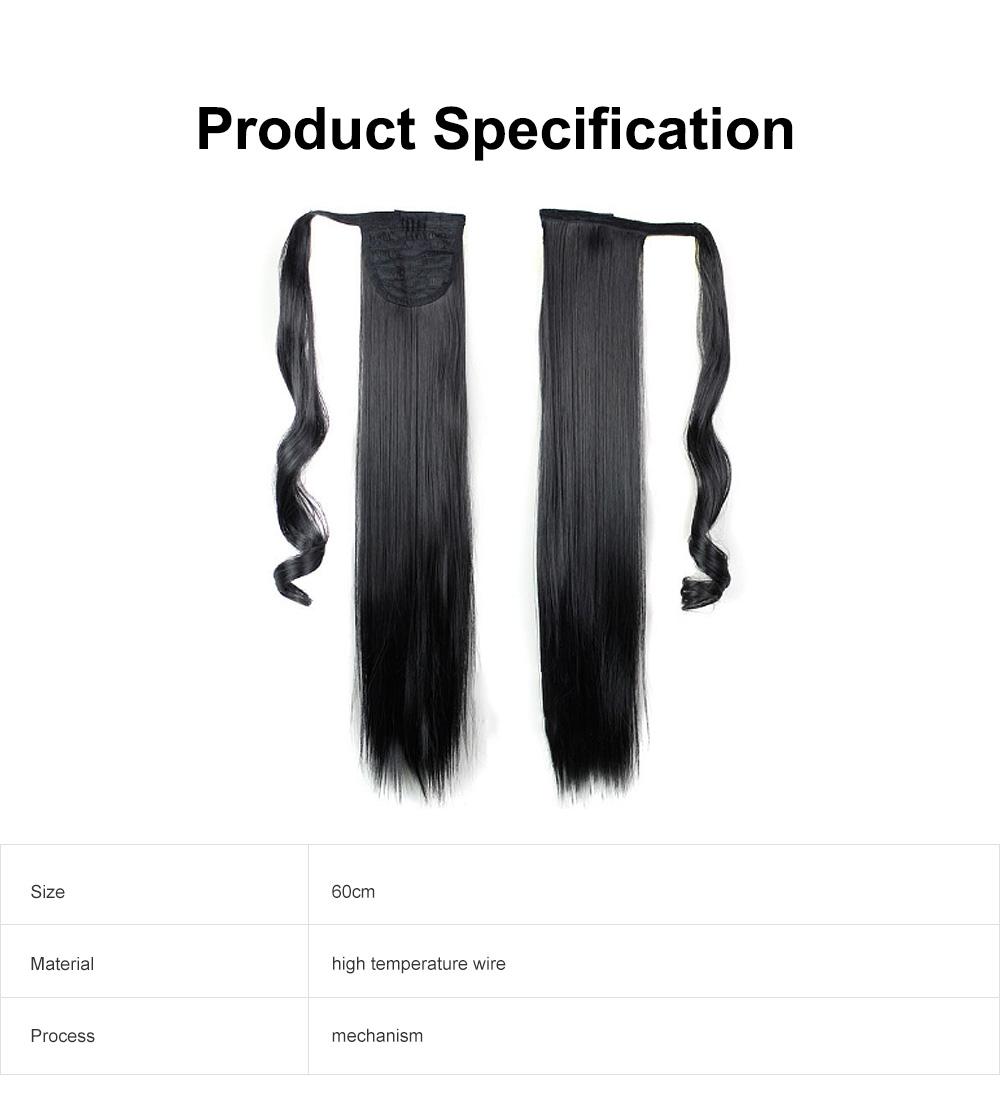 Lifelike & Vivid Wig Chemical Fiber Long Straight Hair Curly Magic Tape with Binding Design 5