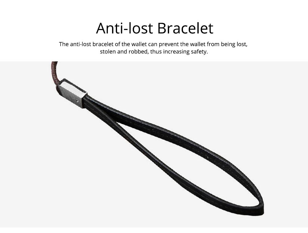 Baellerry Long Wallet for Men PU Leather Large Capacity Zipper Multiple Card Position Change Bag Handbag 6
