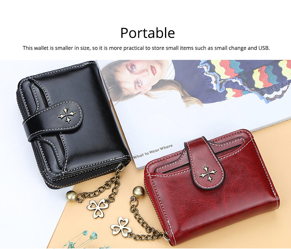 Baellery Short Purse for Women, PU Leather All-match Fashion Coin Purse Tassel Zipper Handbag Wallet 2019 New 3