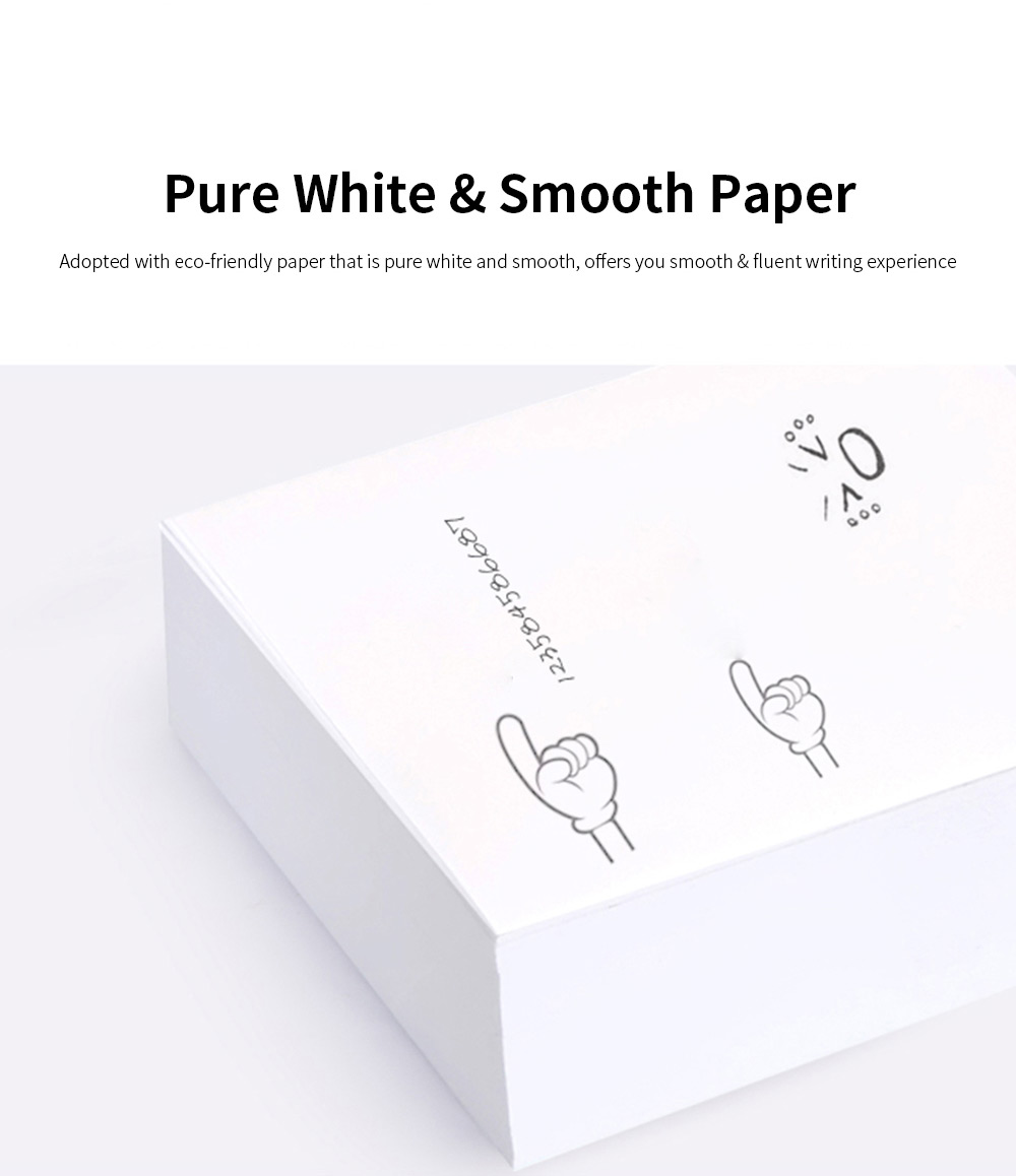 Blank Notepaper with Transparent Storage Box, All White Sticky Note for Students, Teachers, Office Home Use, 300 Sheets of Notepaper 107mm*96mm 1