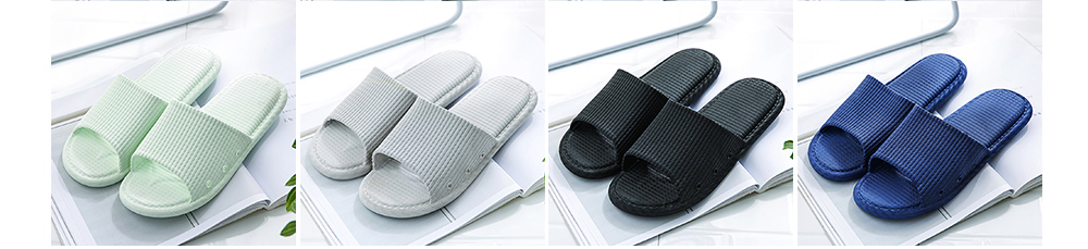 Summer Slippers PVC Anti-slip Soft for Couples Stain Resistant Comfortable Household Bathroom Slippers 2019 New 9