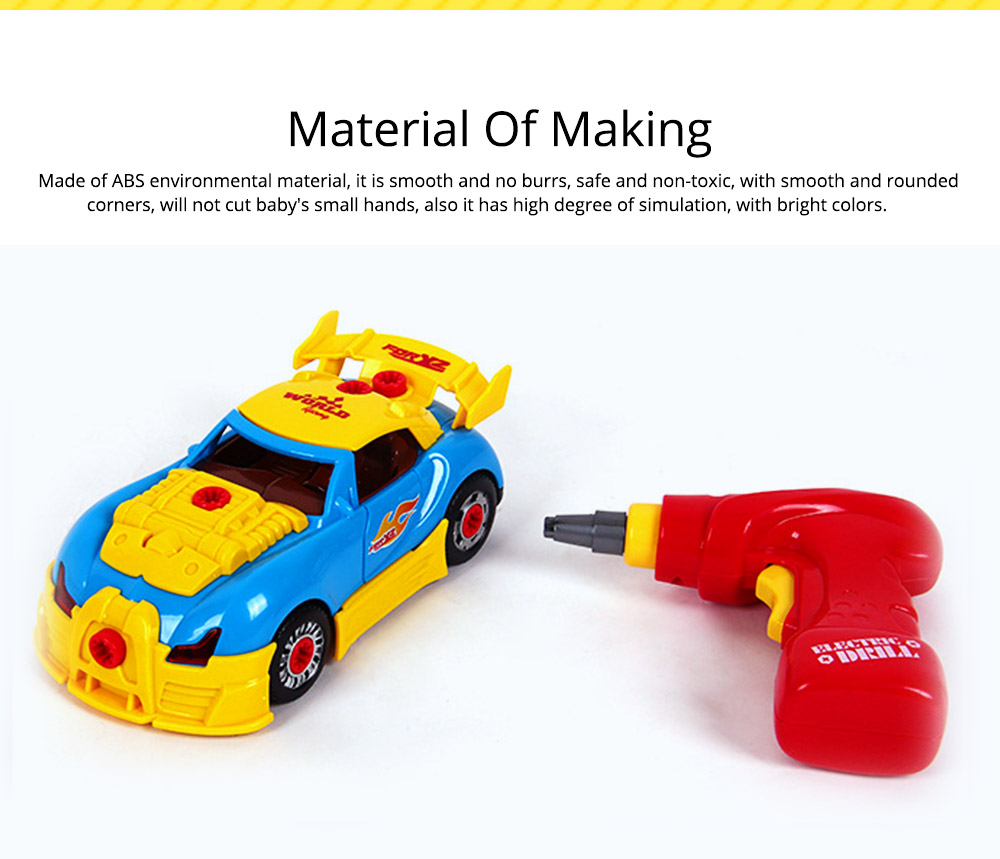 Baby Child Christmas Gift Kids Boy Disassembly Assembly Classic Drive Car Toy Detachable Electric Screwdriver 1
