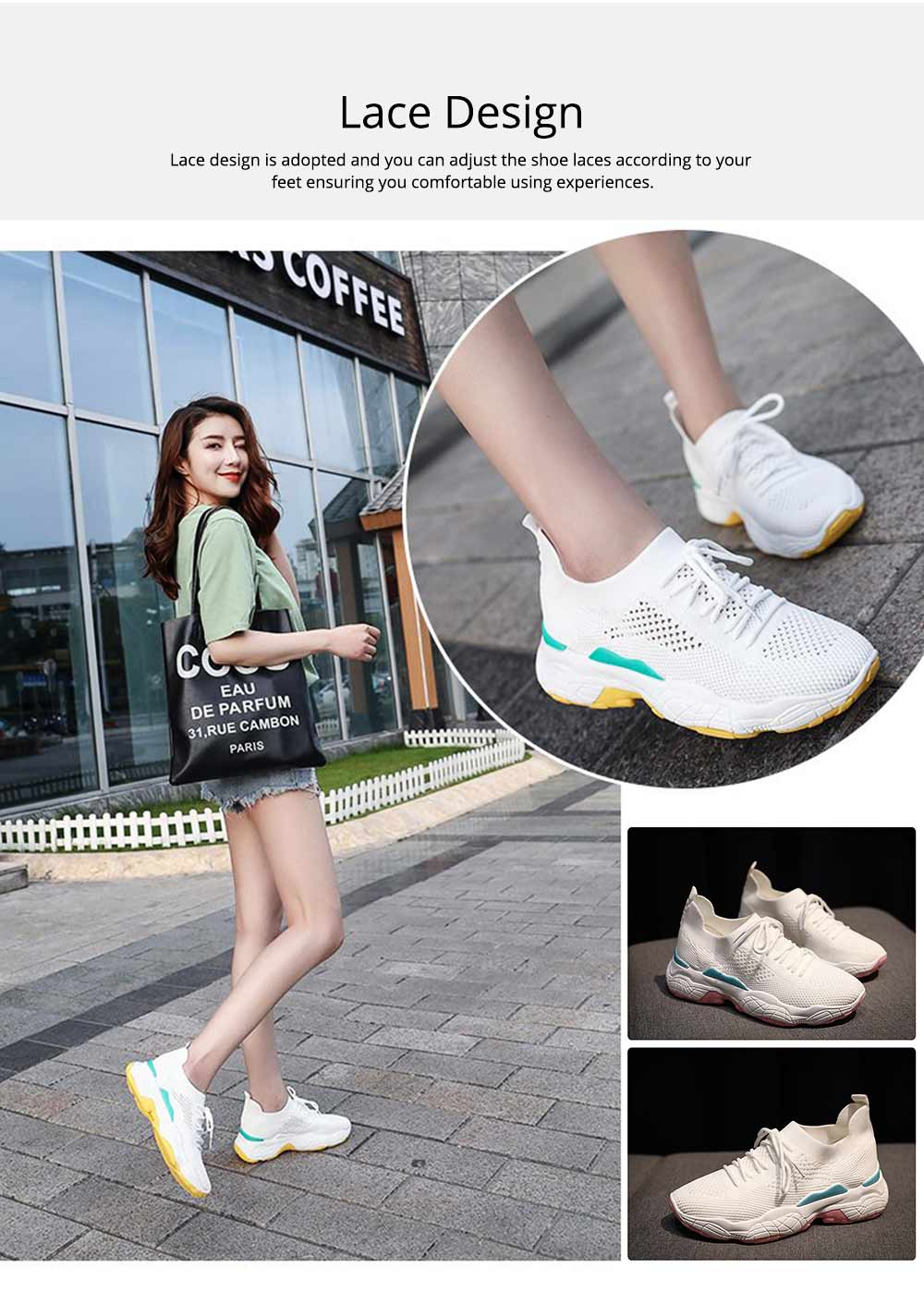 Minimalist Casual Breathable Mesh Women Sneakers, Comfortable Sports Running Gym Outdoors Shoes for Ladies 4