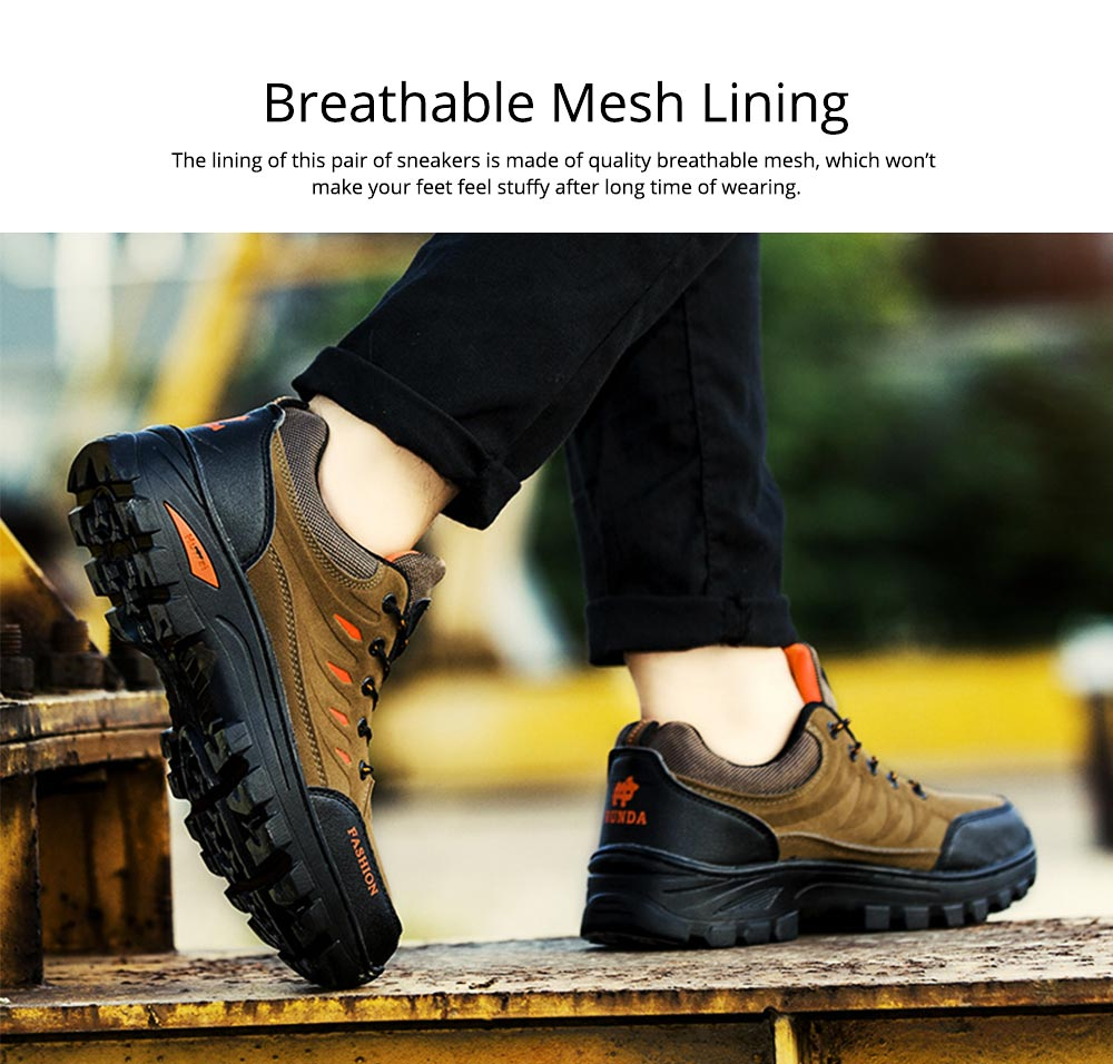 Outdoors Casual Traveling Men Hiking Shoes, Wearable Anti-slip Walking Trekking Sneakers for Men 6