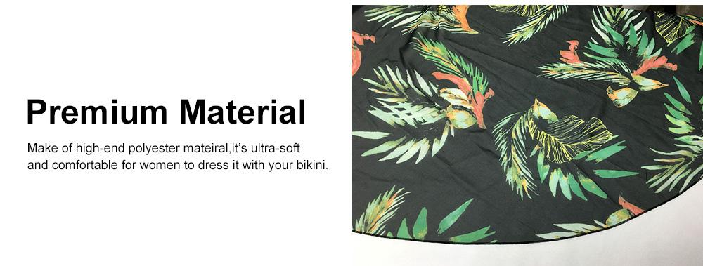 Comfortable & Ultra-soft Chiffon Long Sun Block for Beach Wear Bikini Tops for Women 2